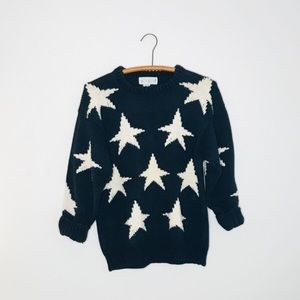 Vintage Retro 90's Cotton Chunky Star Sweater